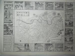 名勝絵入改正仙台市内全図・明治25年8月30日