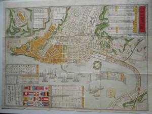 銅板横浜地図(510×370)明治23年3月19日御届