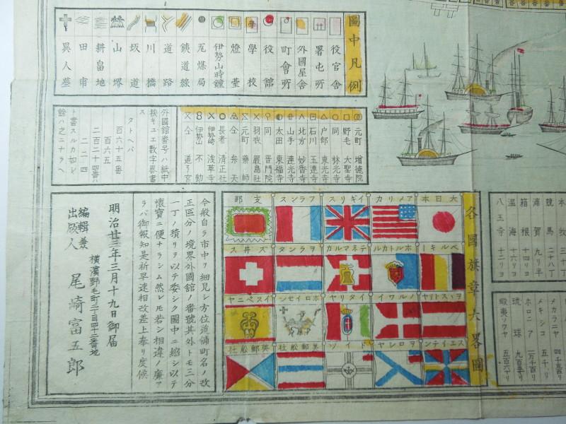 世界20ヵ国の旗章図(部分)