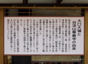3)富岡屋前の大口大領の看板