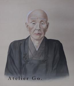 郷純造の肖像画(筆者蔵)